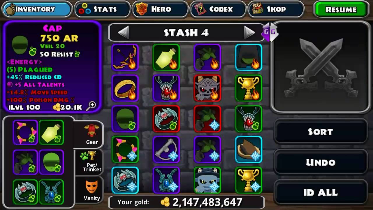 dungeon hack items
