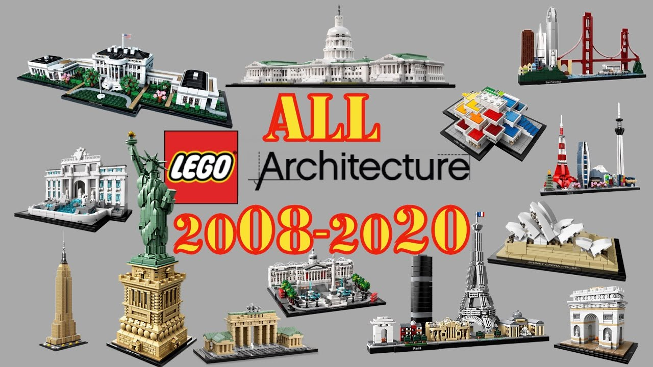 All Lego Architecture 2008 2020 Youtube