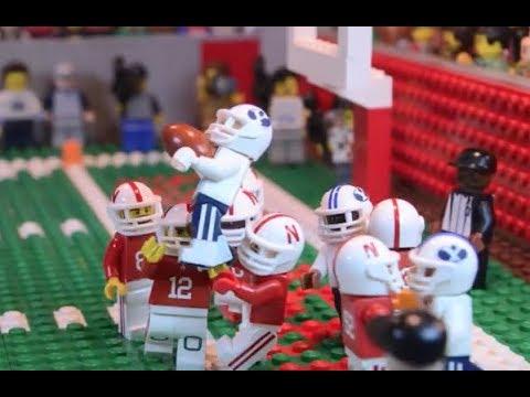 BYU Nebraska Hail Mary Pass in Lego - YouTube
