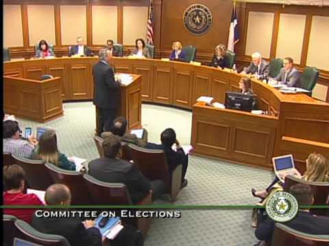 Texas House Committee on Elections Meeting - March 13, 2017