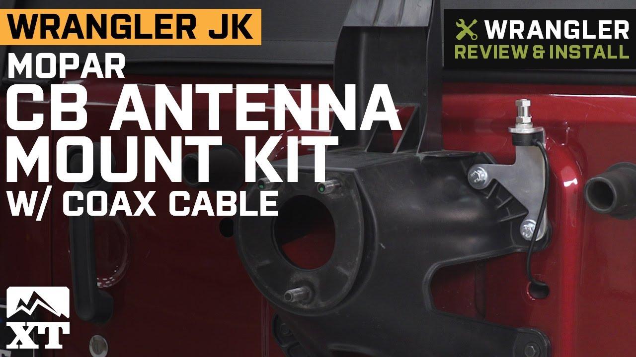 Mopar CB Antenna Mount Kit w/ Coax Cable (07-18 Jeep Wrangler JK)