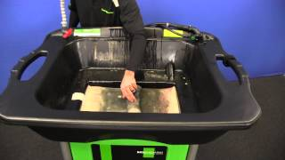 THE SW-37 MOBILE HEAVYWEIGHT - SMARTWASHER BIOREMEDIATING parts washer