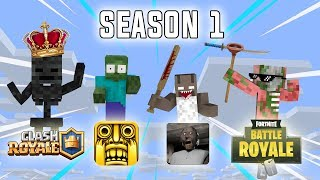 Monster School: Season 1 All Episodes - Minecraft Animation