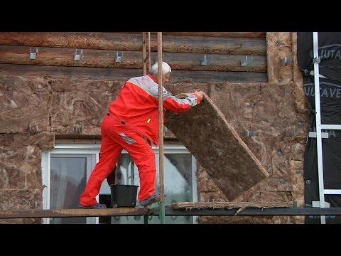 Как закрепить утеплитель на деревянной стене