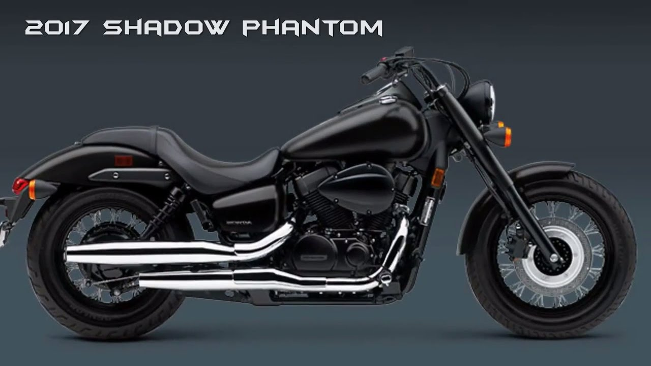 SLEEK, DARK AND HANDSOME : 2017 Honda Shadow Phantom - YouTube