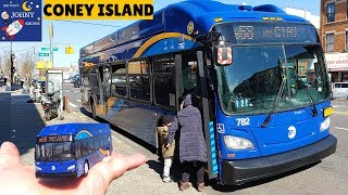 Johny Rides MTA BUS To Coney Island With NEW MTA BUS TOY