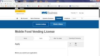 How to apply for mobile food vendor license NYC