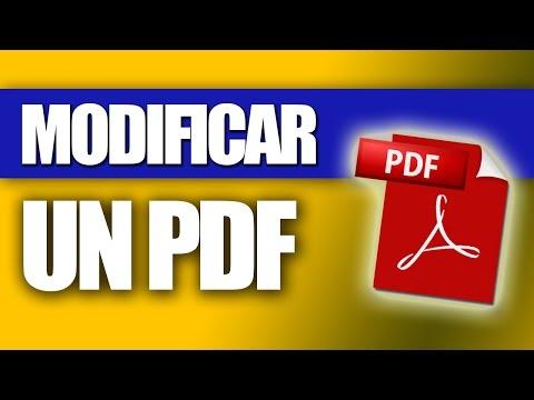 Cómo Modificar un PDF