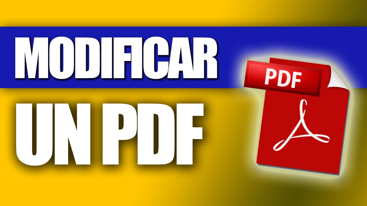 Cómo Modificar un PDF - YouTube