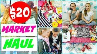 Thrift Haul 💘  $20 Clothing Challenge 💘 Market Haul