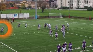 Guelfi Firenze Scrimmage Professional American Football in Italy Max Redfield 22