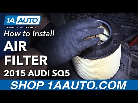 How to Replace Air Filter and Snow Screen 14-19 Audi SQ5
