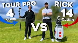 TOUR PRO (4 clubs) Vs RICK SHIELS (14 clubs)