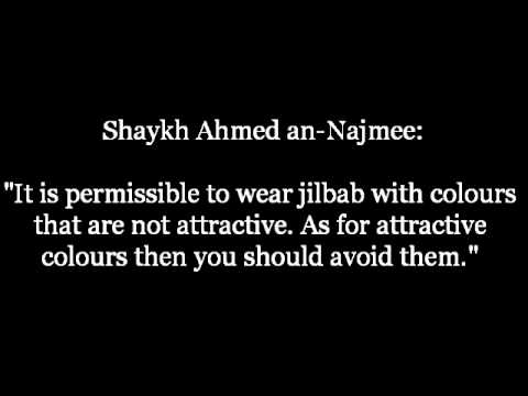 The Ruling on wearing Colourful Jilbab