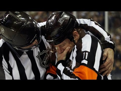 NHL Refs Getting Hit