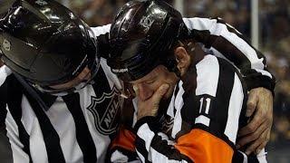 NHL Refs Getting Hit