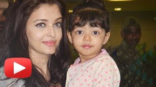 Aishwarya Rai And Baby Aaradhya Bachchan Return From Dubai - SPOTTED