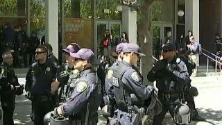 Berkeley protests underway as police line streets