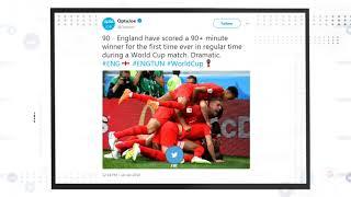 How social media reacted to Tunisia 1-2 England match