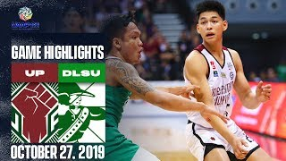 UP vs. DLSU - October 27, 2019 | Game Highlights | UAAP 82 MB