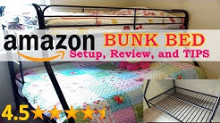 Amazon BUNK BED Review, set up and TIPS! (DHP Twin-over-full Bunk Bed)