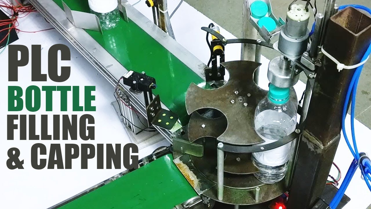 Automatic Bottle Filling Capping Machine Using Plc Youtube