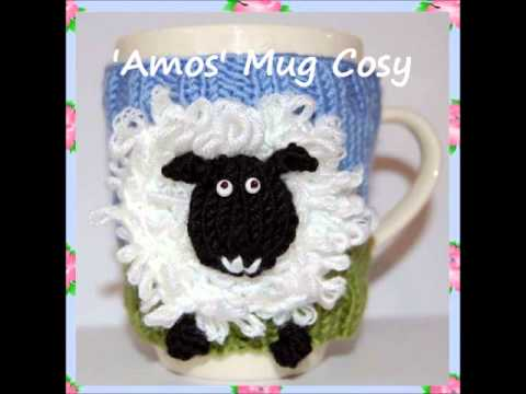 Amos Sheep Lamb Animal Farm Yard Mug Cup Cosy Warmer Dk Yarn