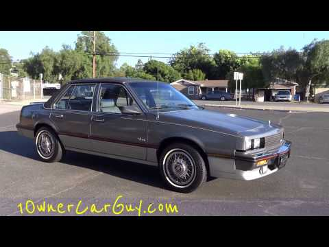 Cadillac Cimarron Sedan 2.8L V6 1 Owner Compact Luxury Car Walkaround Video Review