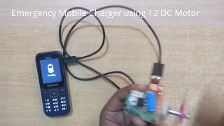 Emergency Mobile Charger using 12 DC Motor at Home  ( MakeloGy )