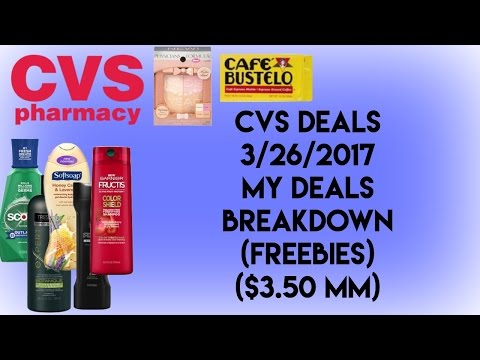 CVS Deals 3/26/2017/ MY DEALS BREAKDOWN (LOTS OF FREEEBIES)