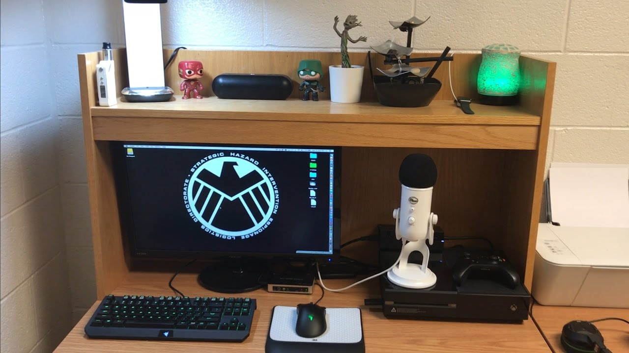 2017 college dorm room setup my new gaming setup youtube Dorm room setups