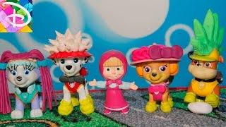 Маша открывает Салон Красоты Превращение Щенячий патруль новые серии Развивающие мультфильмы детям