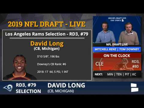 2b0bd743 David Long Selected By Los Angeles Rams With Pick 79 In Round 3 of 2019 NFL  Draft - Grade & Analysis