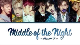 MONSTA X (몬스타엑스) - MIDDLE OF THE NIGHT (Color Coded Lyrics E…