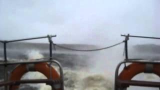 Шторм на талакане,вид из катера,Веселая была рыбалка...
