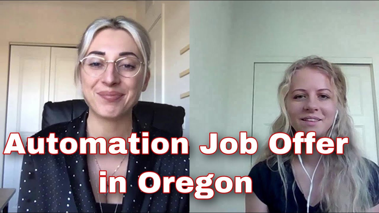 QA TURBO school Success Story. Automation job offer in Oregon.