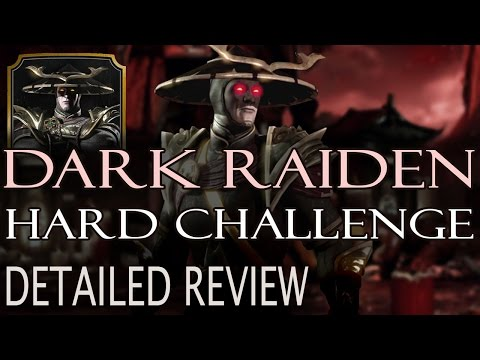 DARK RAIDEN Challenge HARD. Perfect strategy. Mortal Kombat X Mobile