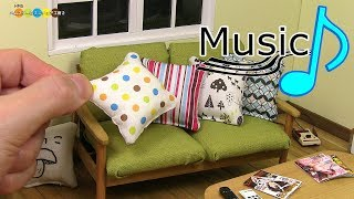 【with music】DIY Miniature Cushion ミニチュアクッション作り