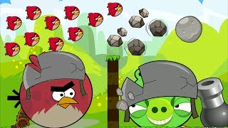 Angry Birds Cannon Collection 2 - TERENCE OVERDRIVE SHOOT 100 BIRDS TO BOSS PIGS!