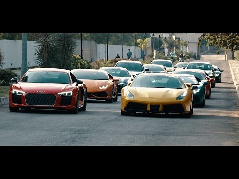 Supercar Parade Ferrari, Lamborghini, Audi R8, and More Supercars of Hyderabad #Cars@Dinos