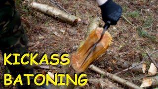 Bushcraft - New Batoning Technique