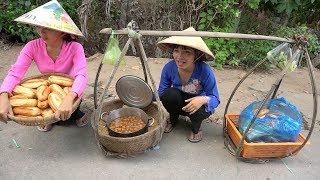 Gánh Bánh Mì Xíu Mại phát cho bà con ở Xóm - Quà tặng của chị Stephannie Hoang -Tập 185