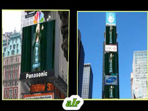 Charice on Big LCD screens in Times Square, New York City USA.....
