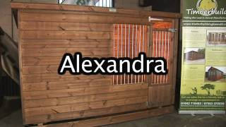 The Alexandra Dog Kennel And Run From Timberbuild