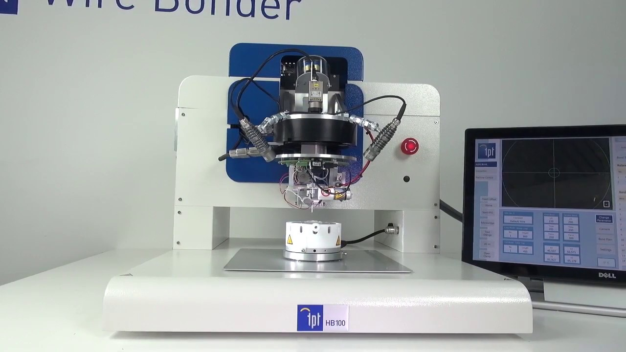 TPT HB100 Automatic Wire Bonder - YouTube