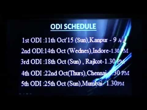 India South Africa cricket series 2015 match schedule match after world cup 2015
