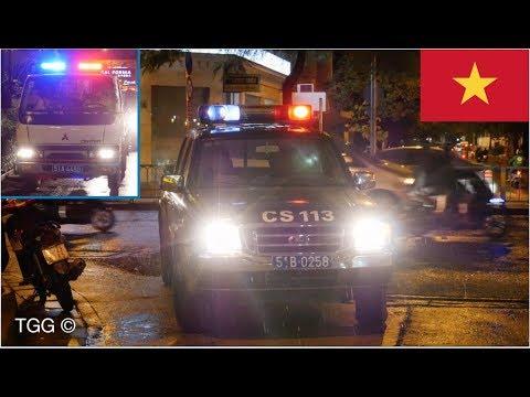 [Vietnam] Police Cars With Lights | Xe Cảnh Sát 113 &  Cảnh Sát Giao Thông tp. hcm