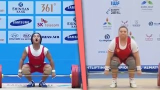 All World Weightlifting Records — Women (2015) / Все Мировые рекорды. Тяжелая атлетика