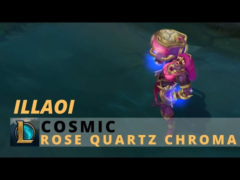 Cosmic Illaoi Rose Quartz Chroma - League Of Legends