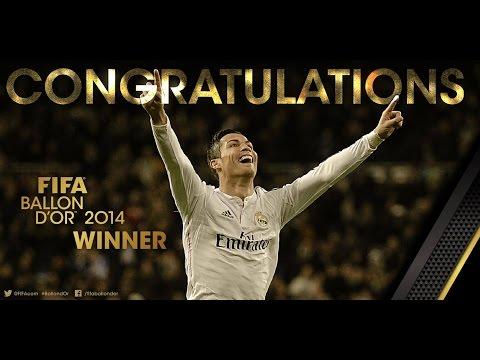 FIFA Ballon d'Or 2014 winner Cristiano Ronaldo